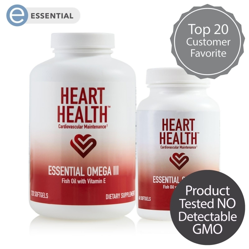 Purchase Heart Health Essential Omega III Fish Oil with Vitamin E title=